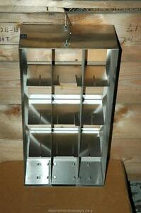 Cryogenic Cryo Storage Rack Stainless Steel 80 Freezer Tray Rack 22 X 5 5 X 11