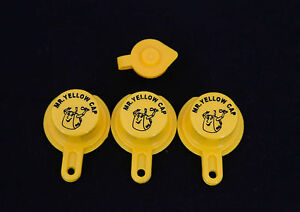 3x Blitz Yellow Spout Caps For Gas Can Spouts 900302 900092 900094 Free Vent