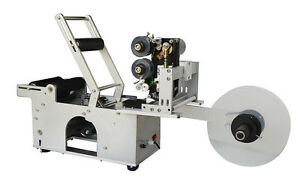110v Round Bottle Coding And Labeling Machine With Printer New Labeller Lt 50