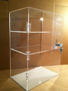 Acrylic Countertop Display Case 12 X 7 X 17 5 Tall Locking Security Showcase
