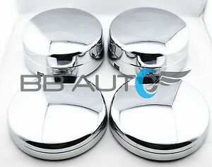 Chrome Wheel Center Hub Caps Set Of 4 For 2003 2017 Dodge Ram 3500 1 ton Dually