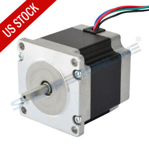 Stepperonline Nema 23 Stepper Motor 1 26nm 179oz in 2 8a 56mm Cnc Mill Router