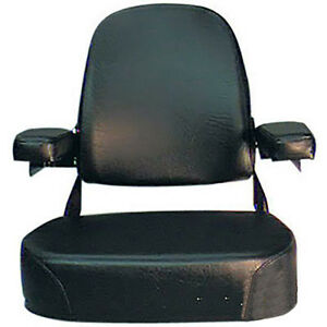 Csa2001 1v New Black Vinyl Complete Seat For Massey Ferguson 1085 1105 1135