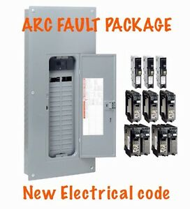 200 Amp Electrical Panel Square D Homeline Arc Fault Breaker Code 2015 New Box