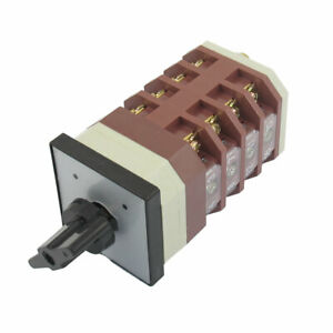 Locking 16 Terminal 2 Position Cam Combination Changeover Switch Ac 380v 16a
