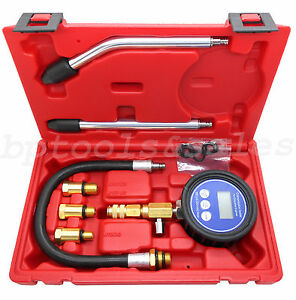 Petrol Engine Compression Tester Lcd Digital Gauge Engine Compression Test Kit