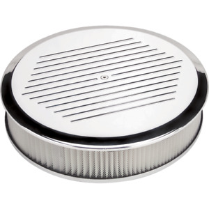 Billet Specialties 15820 14 Round Ball Milled Air Cleaner Polished
