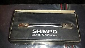 Shimpo Dt 103c Digital Tachometer W Accessories And Case