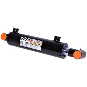 Hydraulic Cylinder Welded Double Acting 3 Bore 6 Stroke Cross Tube 3x6 New