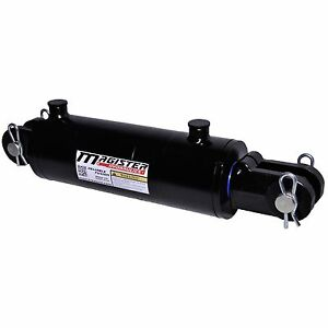 Hydraulic Cylinder Welded Double Acting 4 Bore 4 Stroke Clevis End 4x4 New