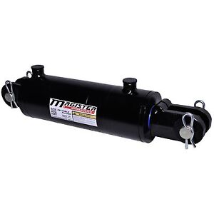 Hydraulic Cylinder Welded Double Acting 4 Bore 14 Stroke Clevis End 4x14 New