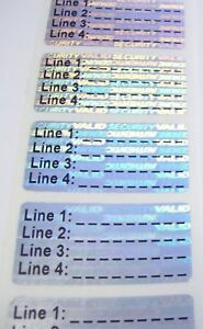 500 Sv175c Custom Svag 75 X 1 5 Hologram Product Protection Label Stickers