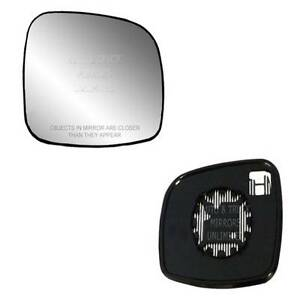 New Mirror Glass With Backing Heated Dodge Chrysler Minivan Passenger Right Side