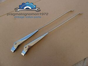 Volvo Amazon 121 122 Wiper Arms Stainless Steel 2 Pcs New
