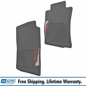 Trd All Weather Floor Mat Pair Lh Rh Front Black Rubber For Toyota Tacoma New