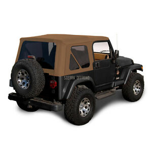 Jeep Wrangler Tj Soft Top 1997 2002 Tinted Windows Sailcloth Saddle