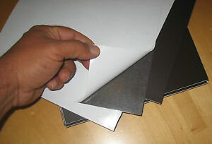 Pack Of 30 Thick Plastic Magnet Sheets 20 Mil Self Adhesive Letter Size