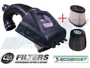 S B Cold Air Intake Kit Plus Extra Filter Pre Filter Wrap For 11 14 Ecoboost
