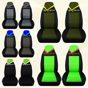 Fits Chevy Gmc Xtreme Highback Bucket Front Car Seat Covers Extreme Chevrolet