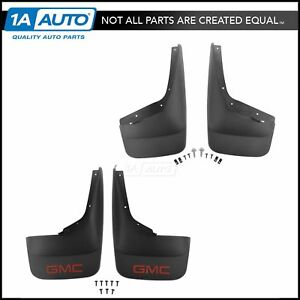 Oem Splash Guard Mud Flap Front Rear Set Of 4 Molded Black For Gmc Pickup Truck