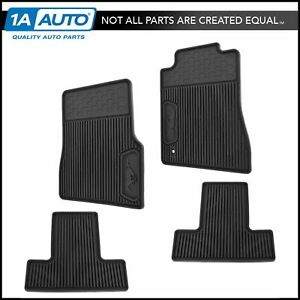 Oem All Weather Floor Mat Set Of 4 Lh Rh Front Rear Ebony For Ford Mustang New