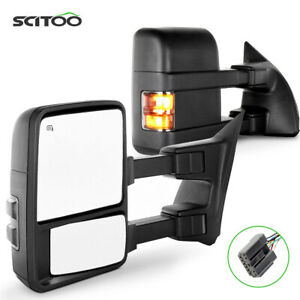 For 03 07 Ford F250 Super Duty Pair Side View Towing Mirrors Power Heated Signal