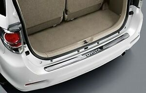 1pc Genuine Part Stainless Rear Bumper Step Guard Fit For Toyota Fortuner