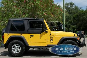 Black Soft Top For 97 06 Jeep Wrangler Smittybilt 9970235 Tinted Windows