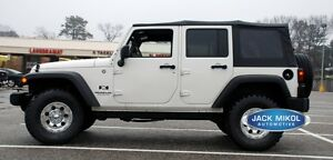 For 2010 2017 Jeep Wrangler 4 door Replacement Soft Top Tinted Rear Windows