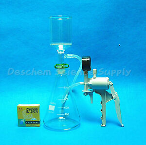 1000ml suction Filtration Unit 70mm Buchner Funnel 1l Flask Vacuum Pump