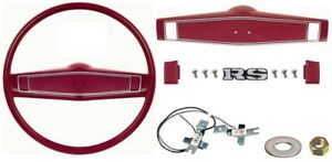 1969 1970 Camaro Chevelle Deluxe Steering Wheel Kit W rs Center Cap Red