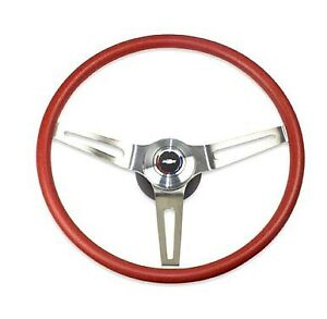 69 70 Camaro Chevelle Comfortgrip Steering Wheel Kit Red W bowtie Horn No Tilt