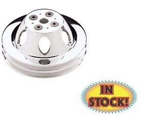 Billet Specialties Water Pump Pulley Small Block Chevy 2 Groove 80220