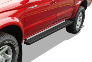 Iboard Running Boards 4 Matte Black Fit 01 04 Toyota Tacoma Double Cab crew Cab