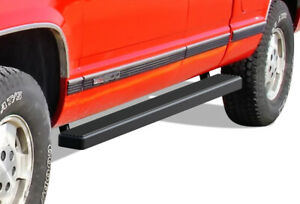 Iboard Running Boards 4 Black Fit 88 98 Chevy gmc C k Pickup 2dr Extended Cab