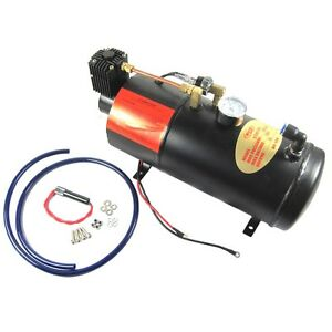 Dc 12v Truck Pickup On Board Air Horn Air Compressor 150psi With 3 Liter Tank