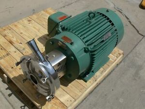 Tri clover Industrial Size Sanitary Centrifugal Pump W A 40hp Reliance Motor