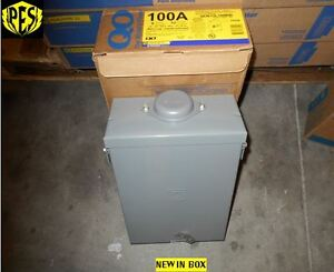 Nib Square D Qo612l100rb 100 Amp Single Phase N3 Outdoor Load Center With Cover