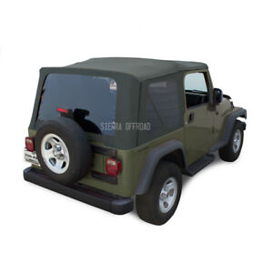 Jeep Wrangler Tj Soft Top 2003 2006 Tinted Windows Khaki Diamond