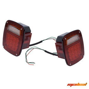 Rugged Ridge 76 06 Jeep Wrangler Cj7 Cj8 Yj Tj Lj Led Tail Light Set 12403 85