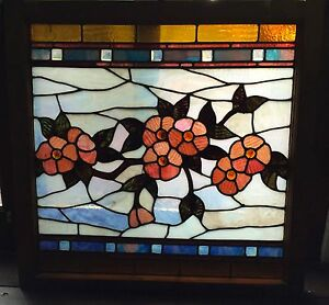 Beautiful Jeweled Flowers In This Victorian Stained Glass Window