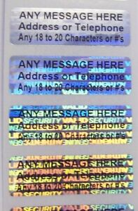 1000 Svag Custom Print Hologram Security Labels Stickers Seals 5 x1 5