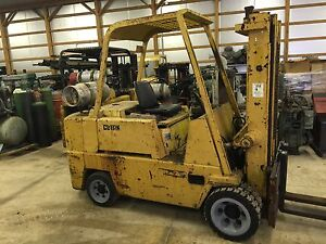 Clark 12 000 Lift Lp Forklift Hard Tire