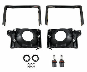 1987 1993 Mustang Headlight Deluxe 12 Piece Mounting Kit Adjusting Brackets