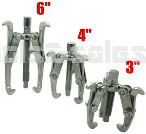 3 Pc Three Jaw Gear Puller Set Bearing Puller Auto Mechanic Gear Pulley 3 4 6