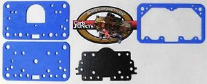 Gasket Pack For Holley Model 4160 Blue Non Stick Metering Block Fuel Bowl Plate