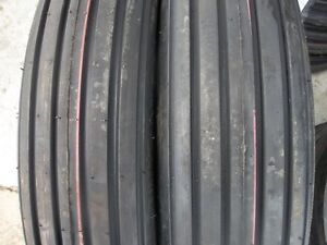 One 600x16 600 16 6 00 16 Rib Implement Tractor Tire W tube Disc Do all 6 Ply
