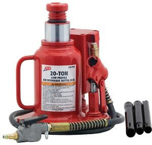 Atd Tools Atd 7372 20 ton Low Profile Air hydraulic Bottle Jack