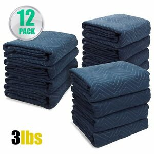 Professional Pack 12 Moving Blankets Bundle 72x80 Quilted Moving Pads Packing