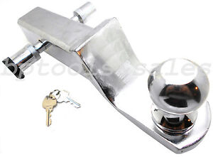 New 2 Drop Hitch Chrome Mount Trailer Receiver Tow W 2 Ball 5 8 Hitch Lock